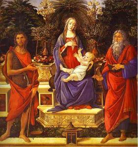 Virgin and Child Enthroned between Saint John the Baptist and Saint John the Evangelis
