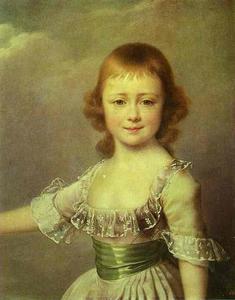 Portrait of Grand Duchess Ekaterina Pavlovna as a Child