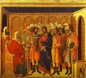 MaestÓ (back, central panel), Jesus Before Annas