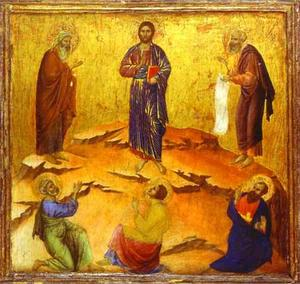 MaestÓ (back, predella), The Transfiguration of Christ