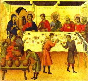 MaestÓ (back, predella), The Wedding at Cana