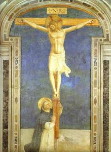 Christ on the Cross Adored by St. Dominic