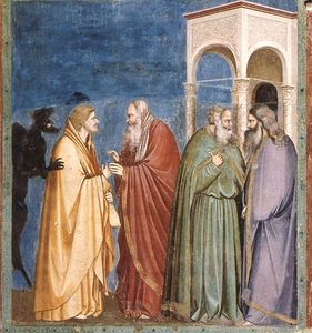 Scrovegni - [28] - Judas Receiving Payment for his Betrayal