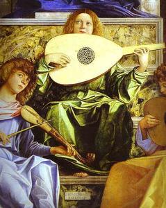 Madonna and Child, Three Musical Angels, and SS. Francis, John the Baptist, Job, Dominic, Sebastian