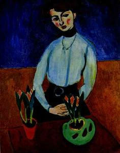 Girl with Tulips (Portrait of Jeanne Vaderin