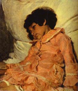 Portrait of Nadya Repina, the Artist's Daughter