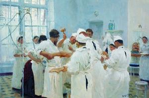 The Surgeon E. Pavlov in the Operating Theater