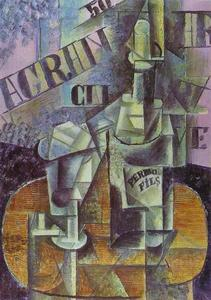 Bottle of Pernod (Table in a Café)