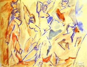 Sketch for The Demoiselles d'Avignon