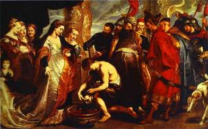Queen Tomyris before the Head of Cyrus