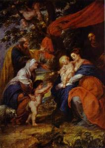 The St. Ildefonso Altar (outer wings). The Holy Family under the Apple-Tree