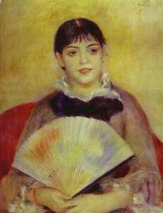 Girl with a Fan (Mlle. Alphonsina Fournez)