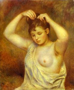 Woman Combing Her Hair. (Femme se coiffant)