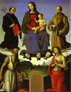Madonna and Child with Four Saint