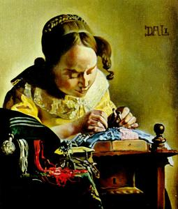 The Lacemaker (copy of the painting by Vermeer Van Delft), 1955
