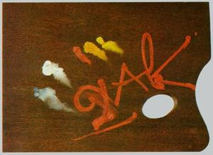 'DalH' Palette. Frontispiece for the outline of 'The Key DalH Paintings', 1972