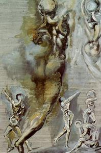 Untitled - Nude Figures after Michelangelo, 1982