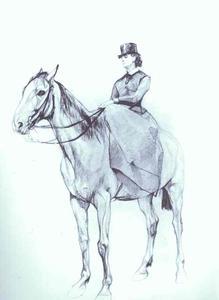 Maria Mamontova Riding a Horse