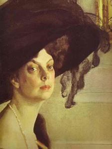 Portrait of Princess Olga Orlova. Detail