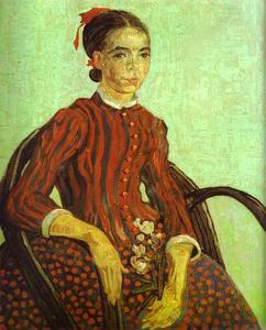 La Mousmé, Seated in a Cane Chair