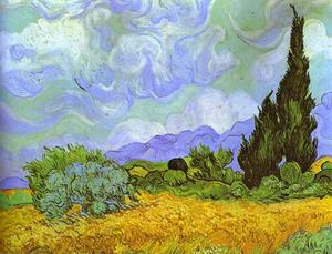 Wheat Field with Cypresses. Saint-Rémy