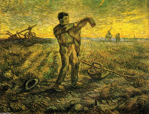 Evening - The End of the Day (after Millet)