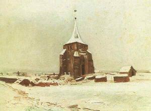Old Cemetery Tower at Nuenen in the Snow, The