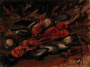 Still Life with Mussels and Shrimps