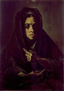 Frau mit einem Schal Mourning