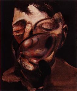 three studies for self-portrait, 1974 left