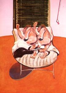 two figures lying on a bed with attendants, 1968 b