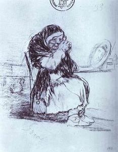 The Old Woman with a Mirror