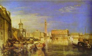 Bridge of Signs, Ducal Palace and Custom-House, Venice Canaletti Painting