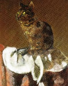 The cat in the mirror III (detail)