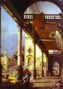 Capriccio of Colonade and the Courtyard of a Palace