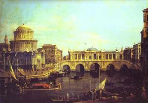 Capriccio - the Grand Canal, with an Imaginary Rialto Bridge and Other Buildings