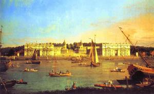 London - Greenwich Hospital from the North Bank of the Thames
