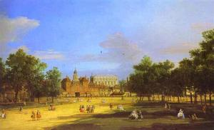 London - the Old Horse Guards and Banqueting Hall, from St. James' Park