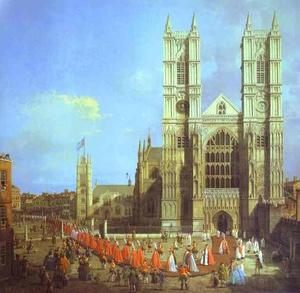 London - Westminster Abbey, with a Procession of Knights of the Bath