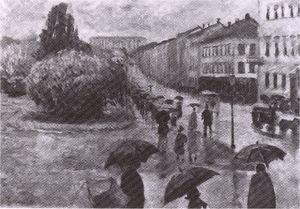 Дождливый день Улица Карла Йохана