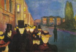 Night street Karl Johan