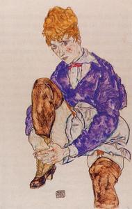 Portrait of the Artist's Wife Seated, Holding Her Right Leg