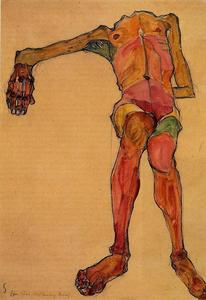 Seated Male Nude, Right Hand Outstretched