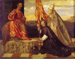 Pope Alexander VI Presenting Jacopo Pesaro to Saint Peter