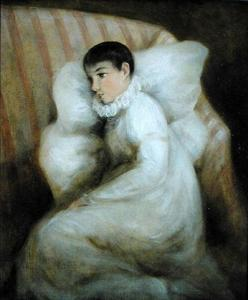 Young Girl resting on a Sofa