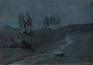 Shadows. Moonlit Night.