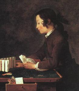 Boy Playing with Cards