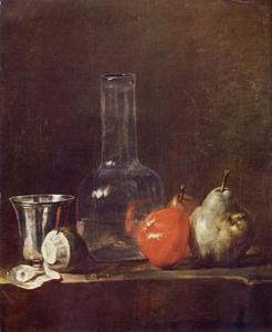 Still Life with Glass Flask and Fruit