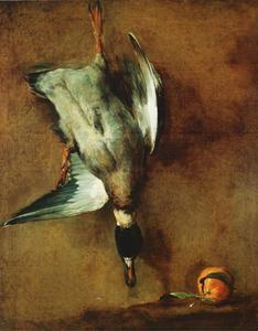 Un canard col-vert attaché à la muraille et une bigarade