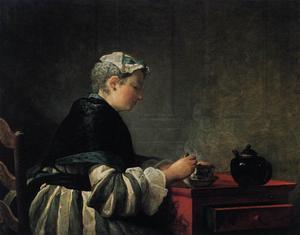 Woman Taking Tea